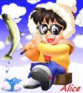 【ペイントツールSAI】ワカサギ釣って楽しいおっちゃん!初のイラリクに応えました。