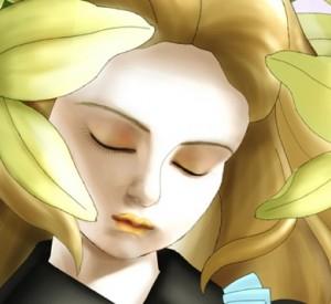 【ペイントツールSAI】コーヒー零しながら転寝する球体関節人形少女を描いてみた。